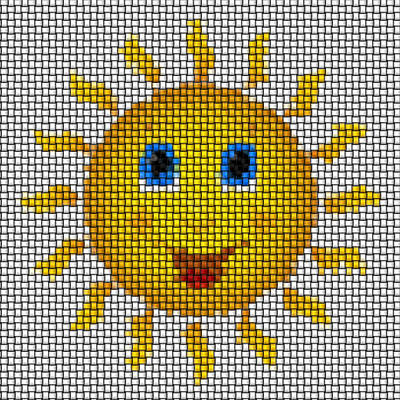 Happy Sun Image Knit Poster