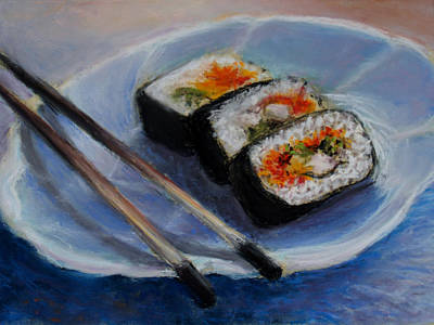 Happy Sushi Poster by Susan Jenkins