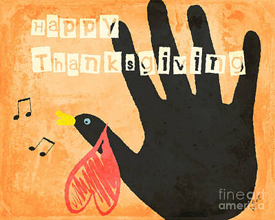 Happy Thanksgiving  Poster by Anita Faye