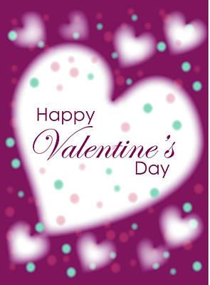 Happy Valentine's Day Poster by Hye Ja Billie