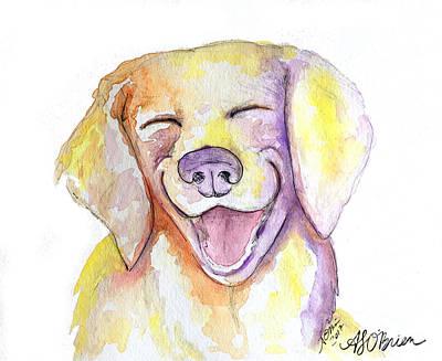 Happy Yellow Dog Poster