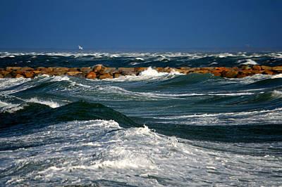 Harbor Blues - Cape Cod Bay Poster by Dianne Cowen
