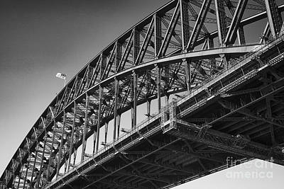 Poster featuring the photograph Harbor Bridge In Black And White by Yew Kwang