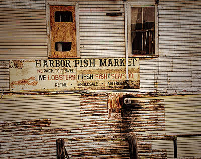 Harbor Fish Market Poster by Mick Burkey