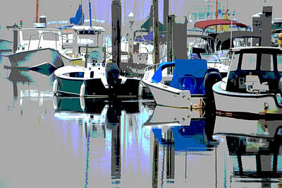 Harbor In The Mist Poster by Dianne Cowen