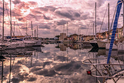 Harbor Of Port Grimaud Poster