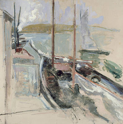 Harbor Scene Poster by John Henry Twachtman