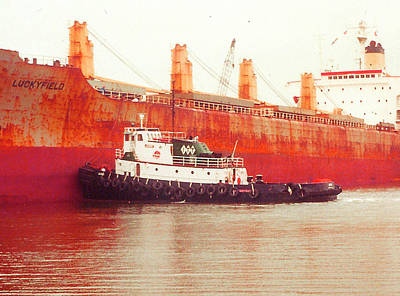Harbor Tugboat Poster by Fred Jinkins