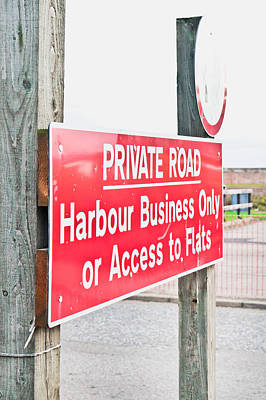 Harbour Sign Poster by Tom Gowanlock