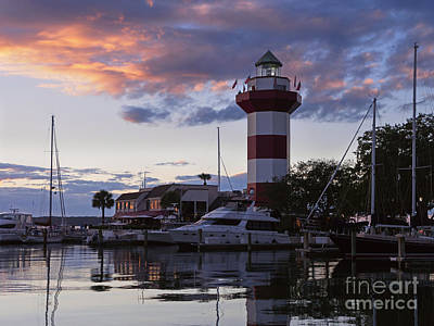 Harbour Town At Sunset Hilton Head Island Poster