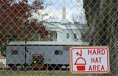 Hard Hat Area At The White House Poster by Cora Wandel