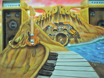 Poster featuring the painting Hard Rock by Thomas J Herring