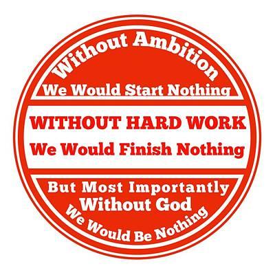 Hard Work Works Poster by FirstTees Motivational Artwork