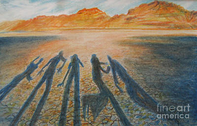 Hardpan Shadows Poster by Jeanette Skeem