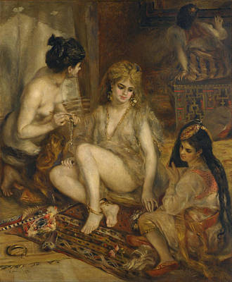 Harem Poster by Auguste Renoir