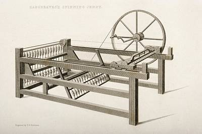 Hargreave S Spinning Jenny. Engraved By Poster