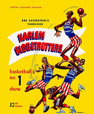 Harlem Globetrotters Vintage Program 32nd Season Poster