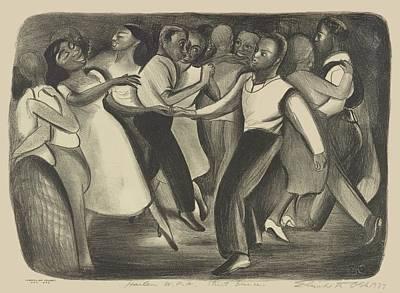 Harlem W P A Street Dance Elizabeth Olds 1937 Poster