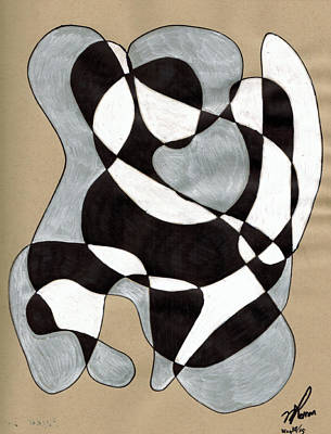 Harlequin Abtracted Poster
