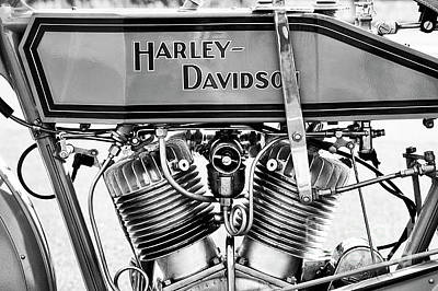 Harley 11f Monochrome Poster by Tim Gainey