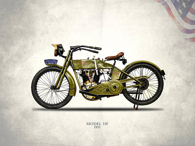 Harley-davidson 11f 1915 Poster