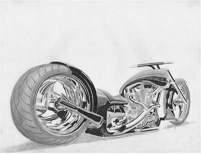 Harley-davidson Custom 5 Motorcycle Art Print      Poster by Stephen Rooks