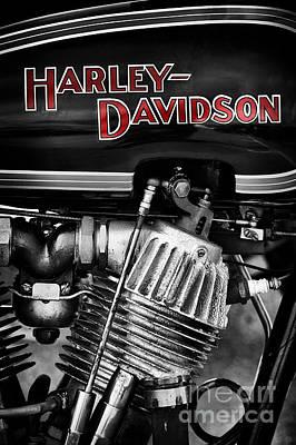 Harley Davidson Jd Poster by Tim Gainey