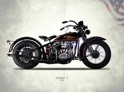 Harley-davidson Model V 1930 Poster by Mark Rogan