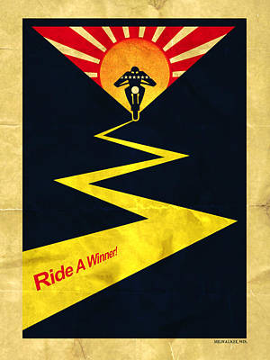 Harley Ride A Winner Poster