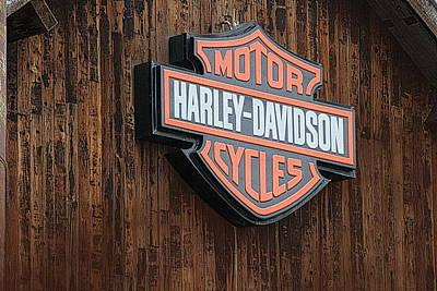 Harley Davidson Sign In West Jordan Utah Photograph Poster