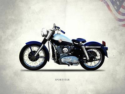Harley Davidson Sportster 1957 Poster by Mark Rogan