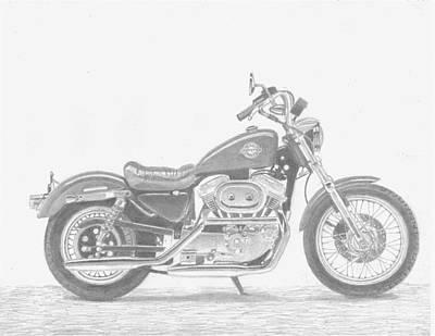 Harley-davidson Sportster 883 Motorcycle Art Print      Poster