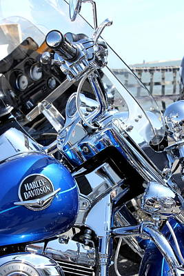 Harley-davidson Poster by Valentino Visentini