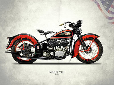 Harley-davidson Vlh 1936 Poster by Mark Rogan