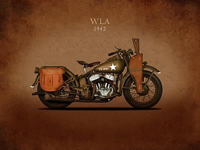 Harley Davidson Wla Poster