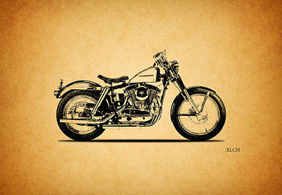 Harley Davidson Xlch 1964 Poster by Mark Rogan