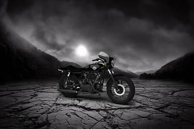 Harley Davidson Xlcr 1977 Mountains Poster