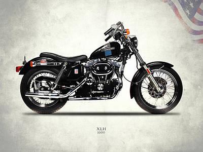 Harley Davidson Xlh 1972 Poster by Mark Rogan