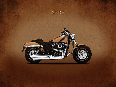 Harley Fat Bob Poster