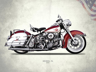 Harley Model Fl 1960 Poster