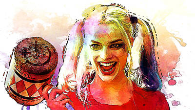Harley Quinn Poster by Elena Kosvincheva