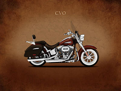 Harley Softail Deluxe Poster by Mark Rogan