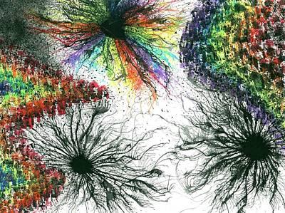 Harmonic Vibes Of The Rainbow Tribe #645 Poster by Rainbow Artist Orlando L aka Kevin Orlando Lau