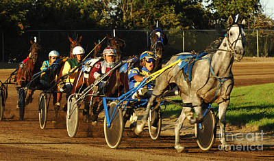 Harness Racing 11 Poster by Bob Christopher