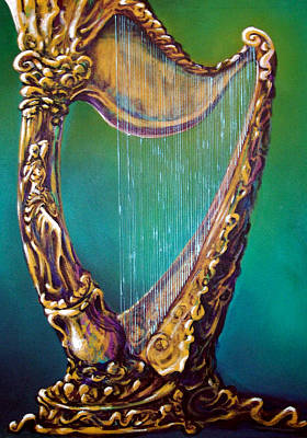 Poster featuring the painting Harp by Kevin Middleton