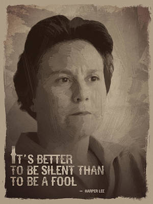 Harper Lee Quote Poster