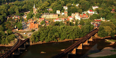Poster featuring the photograph Harpers Ferry by Mitch Cat