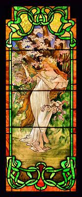 Harpist Poster by Kristin Elmquist