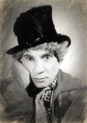 Harpo Marx Draw Poster by Quim Abella