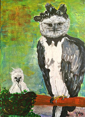Harpy Eagle With Fledgling Poster by Dagmar Batyahav